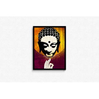 Gautama Buddha Vitarka Mudra Framed Poster