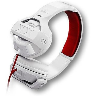 JVC HA-S44X-W Stereo Wired Headphones         (White, Over the Ear)