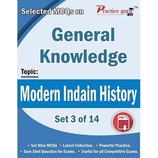Selected MCQs on GK  - Modern Indian History Set 3 of 14
