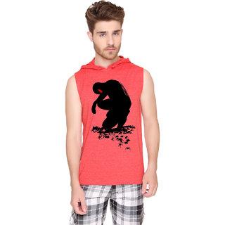 SayItLoud Men's Printed Sleeveless Hoddie