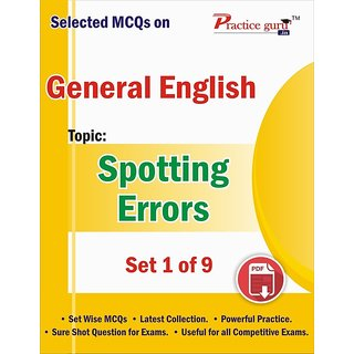 Selected MCQs on English - Spotting Errors Set 1 of 9