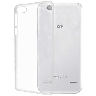 Colorcase Transparent Back Cover Case for Reliance Jio Lyf Wind 3
