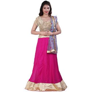 Ambaji Pink Color Party Wear Georgette Lehenga Choli