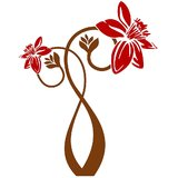 Chipakk Bunch Of Flowers 4 - Red Wall Decal (Medium)