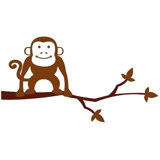 Chipakk Monkey-Brown Wall Decal (Medium)