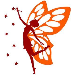 Chipakk Butterfly Fairy - Maroon Wall Decal (Medium)