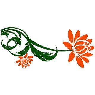Chipakk Orange Bloomer Wall Sticker (Medium)