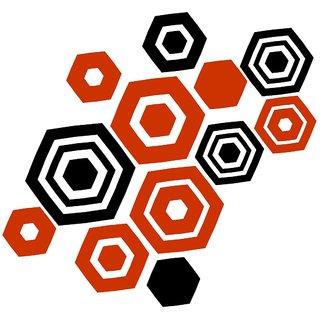Chipakk Geometric Blocks Wall Sticker - Orange (Small)