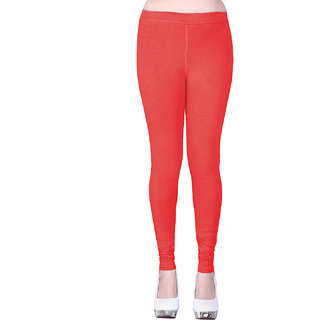 Sanado's Women Bright Tomato Ankle Leggings