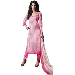 PADMiNi Unstitched Dress Materials Pink