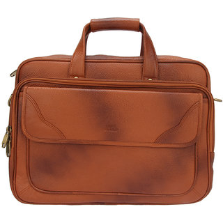 Hide Bulls Laptop Messenger Brown in Color
