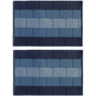 STATUS IRIS DOOR MAT BLUE 15 X 23 2 PCS