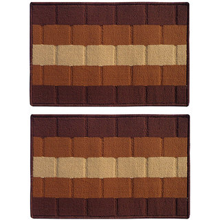 STATUS IRIS DOOR MAT BROWN 15 X 23 2 PCS