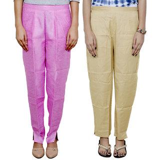 IndiWeaves Women's Boot Cut Pant Combo (Pack of 2 Boot Cut Pant)