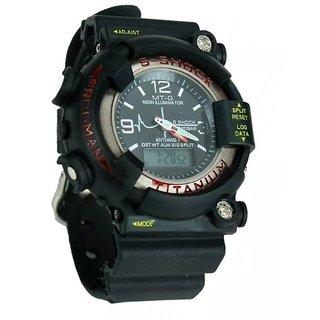 Gee Sports Watch S Showy Black Dial Round Watchtitanium Black Dial