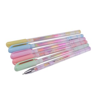 Saamarth Impex 6 Swirl Multi color Pen Clear Cases Art  Craft SI-1591