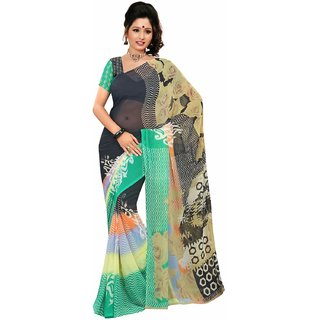 Snapshopee Multicolor Cotton Dotted Saree With Blouse