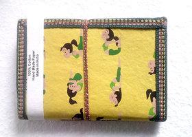 Gift Hand Made Paper Yoga Printed Girl Yellow Elegant Diary Blank Diaries