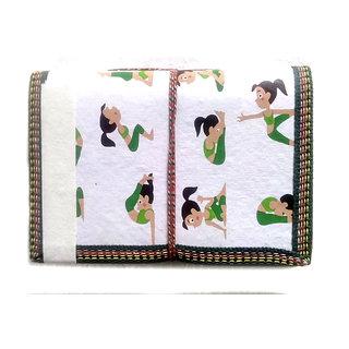 Gift Hand Made Paper Yoga Printed Girl White Elegant Diary Blank Diaries