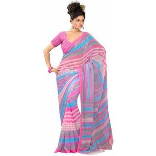 Snapshopee's Women's Renial Printed Saree(Multicolor)