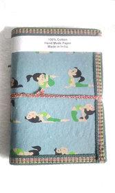 Gift Hand Made Paper Yoga Printed Girl Elegant Diary Blank Diaries