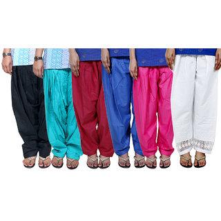 Buy Indistar Women s Cotton Patiala Salwar Combo 6 (Pack of 6 Salwar ... b22222aa5