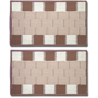 STATUS RIO DOOR MAT LT.BROWN 15 X 23 2 PCS