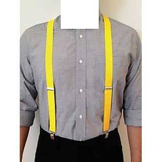 Solid Yellow Suspender