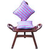 Elements Pink N Blue Linea Cushion Covers - Set Of 5 Pcs