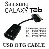 Usb Female Otg Cable Adapter For Samsung Galaxy Tab 10.1/8.9/p7500/p7510 P6800 P6810