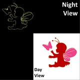 Chipakk Lil Fairy-Red Wall Decal (Glow In The Dark)