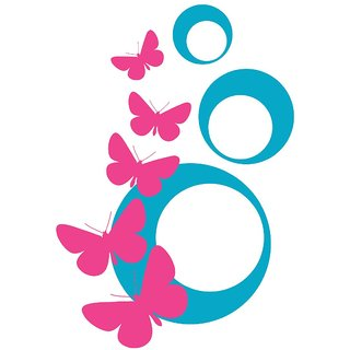 Chipakk Abstract Butterfly Wall Decal - PinkWall Decal -Blue (Small)