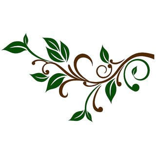 Chipakk Delicate Branch Wall Decal - Green (Small)