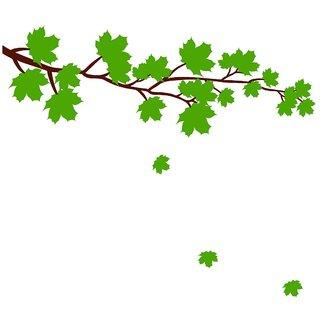 Chipakk Maple Leaves Wall Sticker - Green (Small)