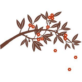 Chipakk Flowering Branch 8Wall Decal - Brown (Small)