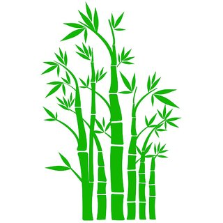 Chipakk Mini Bamboos - Light Green Wall Decal (Small)