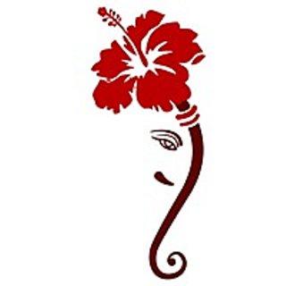 Chipakk Ganesha 3Wall Sticker - Red (Large)