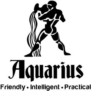 Chipakk Aquarius Zodiac Decal - Black (Small)