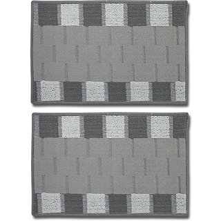 STATUS RIO DOOR MAT GREY 15 X 23 2 PCS
