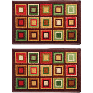 STATUS TABA DOOR MAT MULTICOLOUR 15 X 23 2 PCS