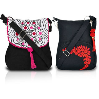 19176945475 Buy Combo of two Cute Small Red and Black Sling Bag Online   ₹749 ...