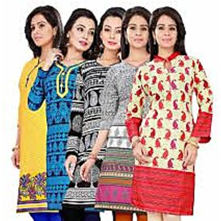 Multi Color Design Kurti Combo of 5