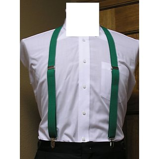 Solid Green Suspender