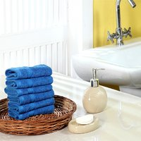 Furhome Cotton Face Towel Set Of 6.TO1720