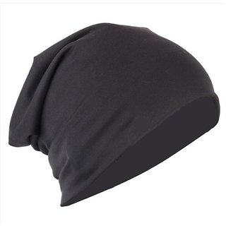 206393f71 Black Unisex Woolen Cap Slouchy Beanie Cap For Men Women
