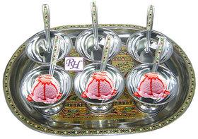 Ice Cream bowls set with tray - dessert Bowl set Meenakari Work