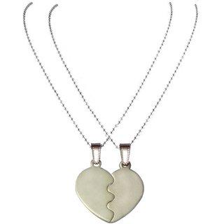 Men Style Couple Broken Heart Silver Zinc Alloy Heart Pende