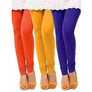 cotton lycra  combo pack of 3 pc of leggings for ladies ,girls and for women