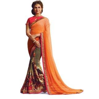 Ridham Sarees Multi Colour Georgette Designer Sarees