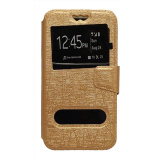 Lava X3 Flip Cover by GEOCELL - Golden